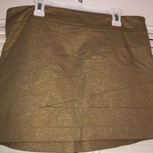 Gold Glitter Express Skirt